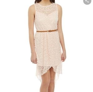 NWT As You Wish High Low Dress with Belt Medium